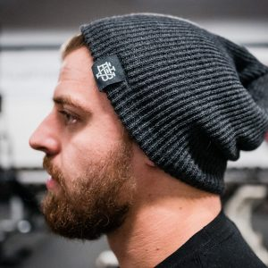 Charcoal Patch Beanie