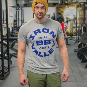 Blue & Gray Iron Valley BB Tee